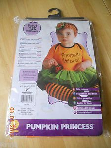 Rubies Pumpkin Princess Dress Tutu Baby Girl Infant 1st Halloween Costume New