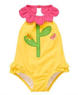 Gymboree Spring Blossom Baby Girl Clothes Swimsuit Yellow 3 6 9 12 18 24 M