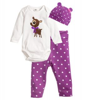 Toddler Baby Girl Romper Long Sleeve Purple Cotton Outfits 0 24 M Clothes Sets
