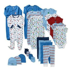 Newborn Boys Girls Baby 21 Piece Clothes Set Onesie Top Bottom Mix Match Lot