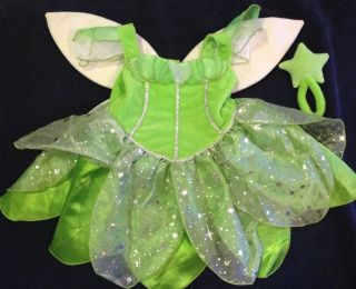 Disney Baby Fairies Tinkerbell Halloween Costume w Wings Wand Baby Girl 12 Mos