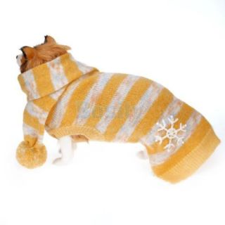 Pet Dog Sweater Pullover Jersey Pompom Scarf Coat Winter Costume Jumper Clothes