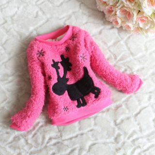 Rose Baby Girls Coat Xmas Sweatshirt Clothing Sweater Dress 12 18Month NL23