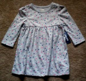 Old Navy Baby Girls' Polka Dot Jersey Dress Size 12 18 Months NWT