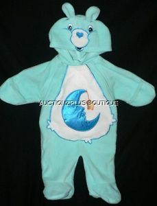 Care Bears Baby Bedtime Bear Blue 1 PC Sleeper Hooded Costume Halloween 0 3 Mos