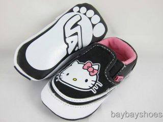 Vans Slip on Hello Kitty Black Pink Crib Infant All Sz