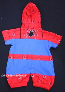 Halloween Cute Spiderman Costume Baby Toddler 18 24mos