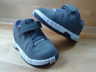 Nike Air Jordan Baby Child Shoes Grey and Purple Size 5