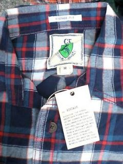 Club Room Vintage Fit Plaid Flannel Cotton Shirt Blue XL Men's Long Sleeves