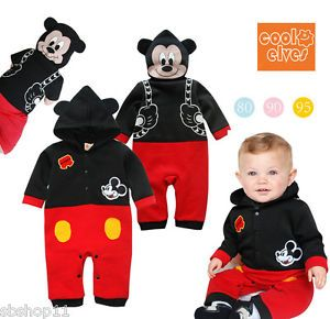 New Baby Infant Boys Disney Mickey Mouse Party Costume Long Sleeves Romper 9 24M