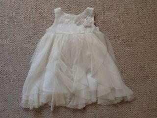 Baby Gap Infant Girls White Rosette Tulle Fancy Dress 6 12 Months