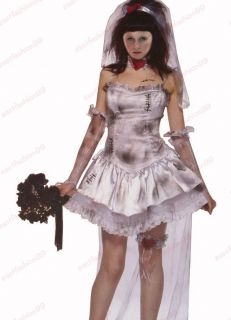 Sexy Delux Ghost Bride Adult Costume Ladies Fancy Dress Halloween Party Wear New