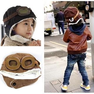 New Baby Toddler Boy Girl Kids Pilot Aviator Cap Warm Hats Earflap Beanie