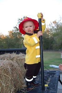 12 18 Month Baby Toddler Kids Boys Halloween Costume Fireman Complete Reflective