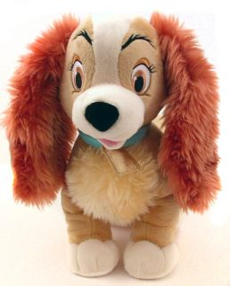 Disney Lady and The Tramp Large Premium Plush Stuffed Plush Doll Mutt Dog New