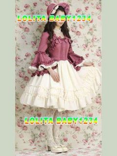 Princess Victorian Maiden New Japan Vintage Gothic Lolita Costume Living Dress