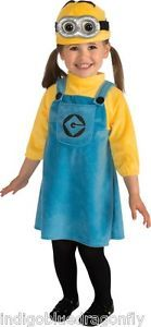 Girls Infant or Toddler Despicable Me 2 Minion Costume Halloween Party Fun New