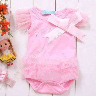Kid Baby Girl Princess Short Top Suit Dress Costume Cloth Clothing 0 3Y TYA5
