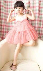 Pinks Baby Kids Girls Clothing Princess Vest Sundress Cute Dress Skirts XY11