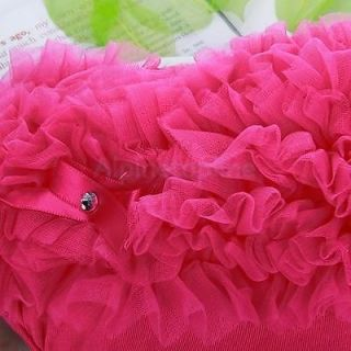 Baby Girl Ruffle Panties Bloomers Diaper Cover Hot Pink