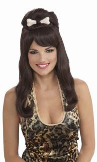 Brunette Cavewoman Adult Woman Halloween Costume Wig