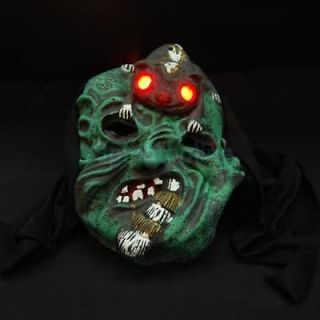 Horrible Latex Ghost Halloween Prop Mask Costume with Sound and Light