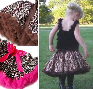 Baby Girls Child Gift Princess Pettiskirt Ballet Dance Tutu Dress Ruffle Skirt