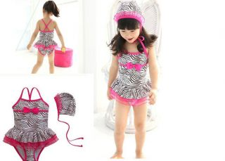 New Baby Girls Swimwear Leopard Kids Swimsuit Bikini 1294 Size 2 7T