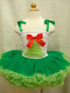 Christmas Tree Girl Size 3T Kids Party Costume Dance Fancy Tutu Dress Pettiskirt