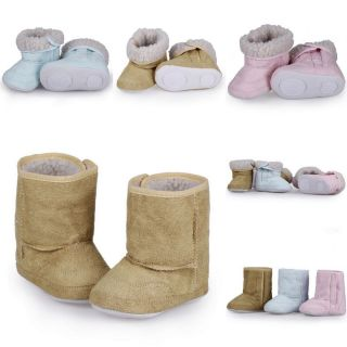 6 24M Baby Infant Toddler Boys Girl Winter Warm Thick Snow Boots Soft Shoes Sole