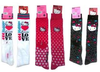 Sanrio Hello Kitty Lady Girl Knee High Socks Size 9 11 New 3 Styles to Choose