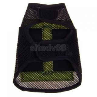 Black Pet Dog Puppy Vest Clothes Apparel Custome Coat S