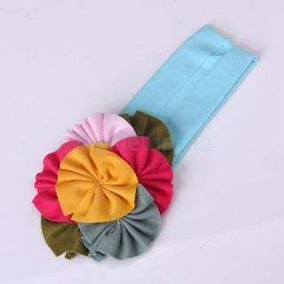 Hot Baby Girl Infant Toddler Lovely Colorful Flower Hair Band Cotton Headband