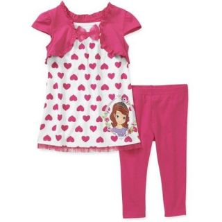 Girl Disney Princess Sofia The First Tunic Shirt Legging Set Toddler Size 5T