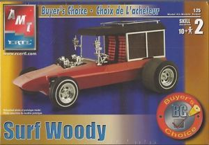 AMT Surf Woody Plastic Model Car Kit Scale 1 25 31921