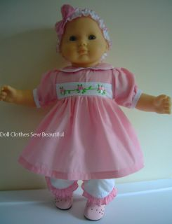 Doll Clothes Fits Bitty Baby 3 Piece Pink Dress Set WOW