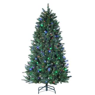 7' Santa FE Pine Pre Lit Color Changing LED Artificial Christmas Tree w Remote