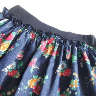 Girls Kid Flower Floral Skirt Ruffle Layered Party Dress Costume Clothing Sz 3 7