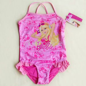 Barbie 2T 4T 5 6 6 7 Girls Swimsuit Swimming Costume Tankini Bathing Swimwear