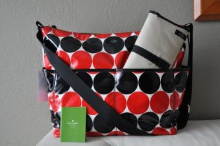 $278 Kate Spade New York Serena Daycation Polka Dot Baby Diaper Bag Tote