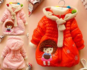 Baby Girls Kids Clothes Coats Princess Snowsuit Jacket Gown Outerwear Clothing