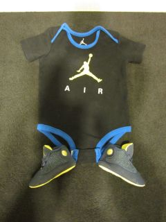 2012' Nike Air Jordan XIII Retro Squadron Blue Infant Baby Boy Crib 1c Bodysuit