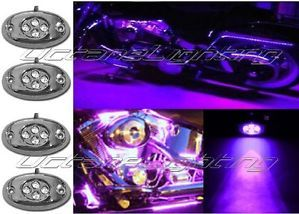 Purple LED Motorcycle Lights