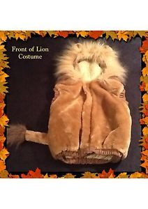 Kids Child Size 6T Halloween Costume The Lion