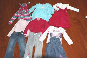 Huge Baby Girl Toddler Kids 4T Fall Winter School Clothes Outfits Lot