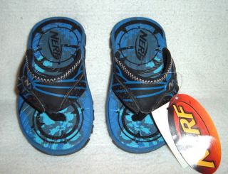 New Toddler Boys Girls Nerf Beach Flip Flop Thong Sandals Shoes Clothes Size 7