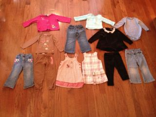 12 PC Baby Toddler Girls Clothing Jeans Dress 3 3T Gap The Limited Elmo Pooh