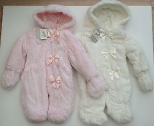 New Baby Girl Kids Luxury Faux Fur Snowsuit Clothes Wear 0 3 3 6 6 9 Months