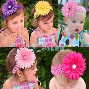 Cute 14 Style Color Baby Boy Girl Kid Toddler Headband Hair Bows Flower Clip