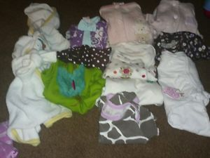 12 Piece Baby Girl Clothes Bath Robe Dress Outfits Cow Print 3 Months Lot 6